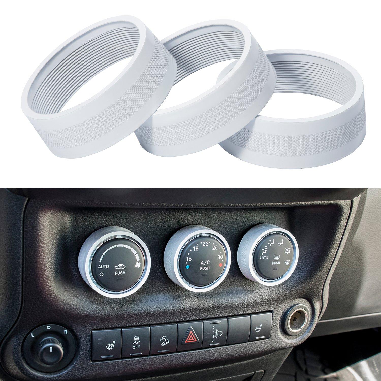Jeep Wrangler Sahara White Top Deals Lowest Price Radio Cover Danti 3pcs Audio Air Conditioning Button Decoration Twist Switch Ring Trim Jk Jku