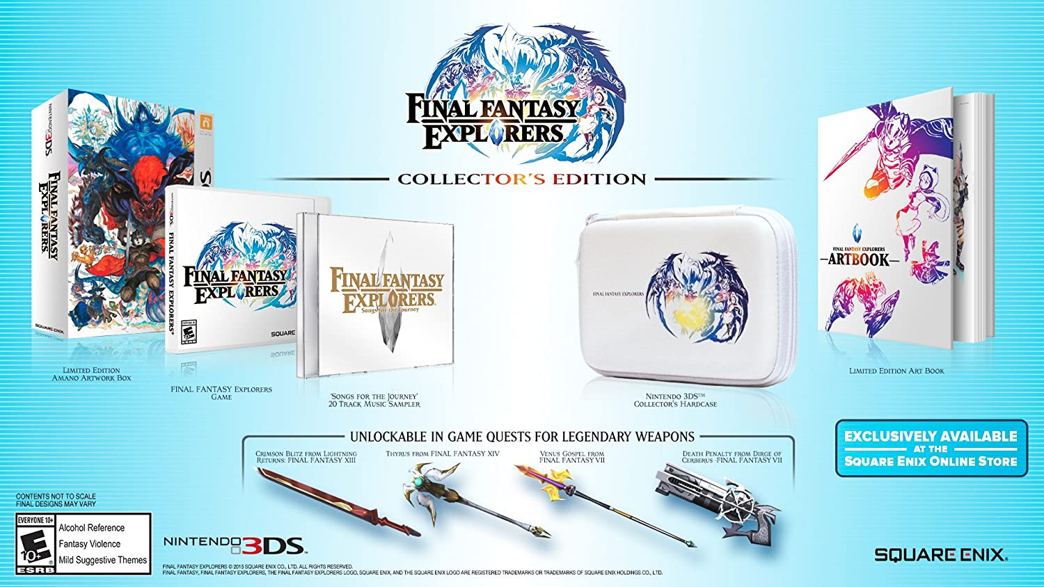 Amazoncom Final Fantasy Explorers Collectors Edition Nintendo - Create invoice app square enix online store
