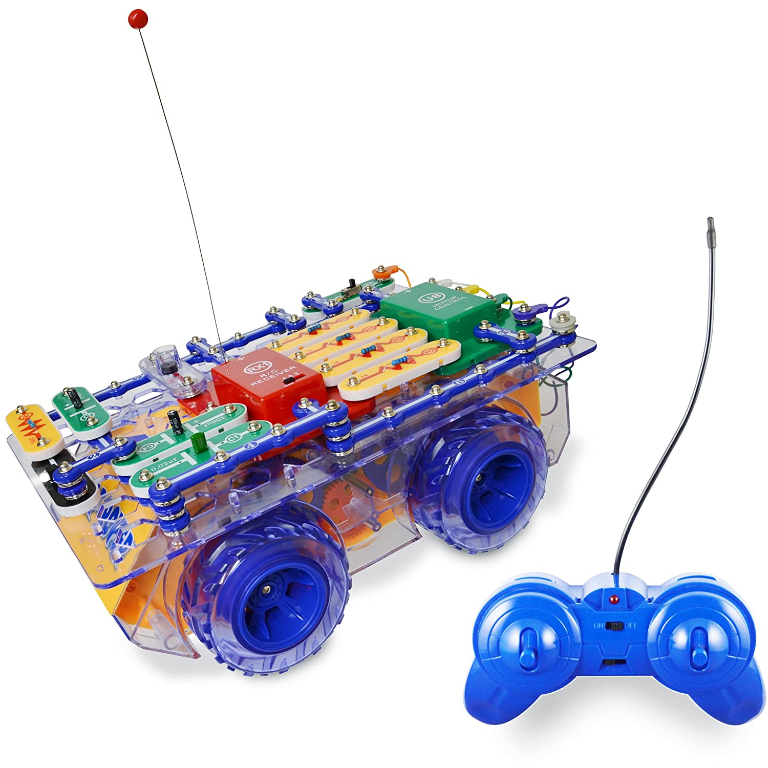 Snap Circuits R C Rover Electronics Exploration Kit Electronic Pro Handson Curriculum 23 Fun Stem Projects 4 Color Project Manual 30 Modules Unlimited