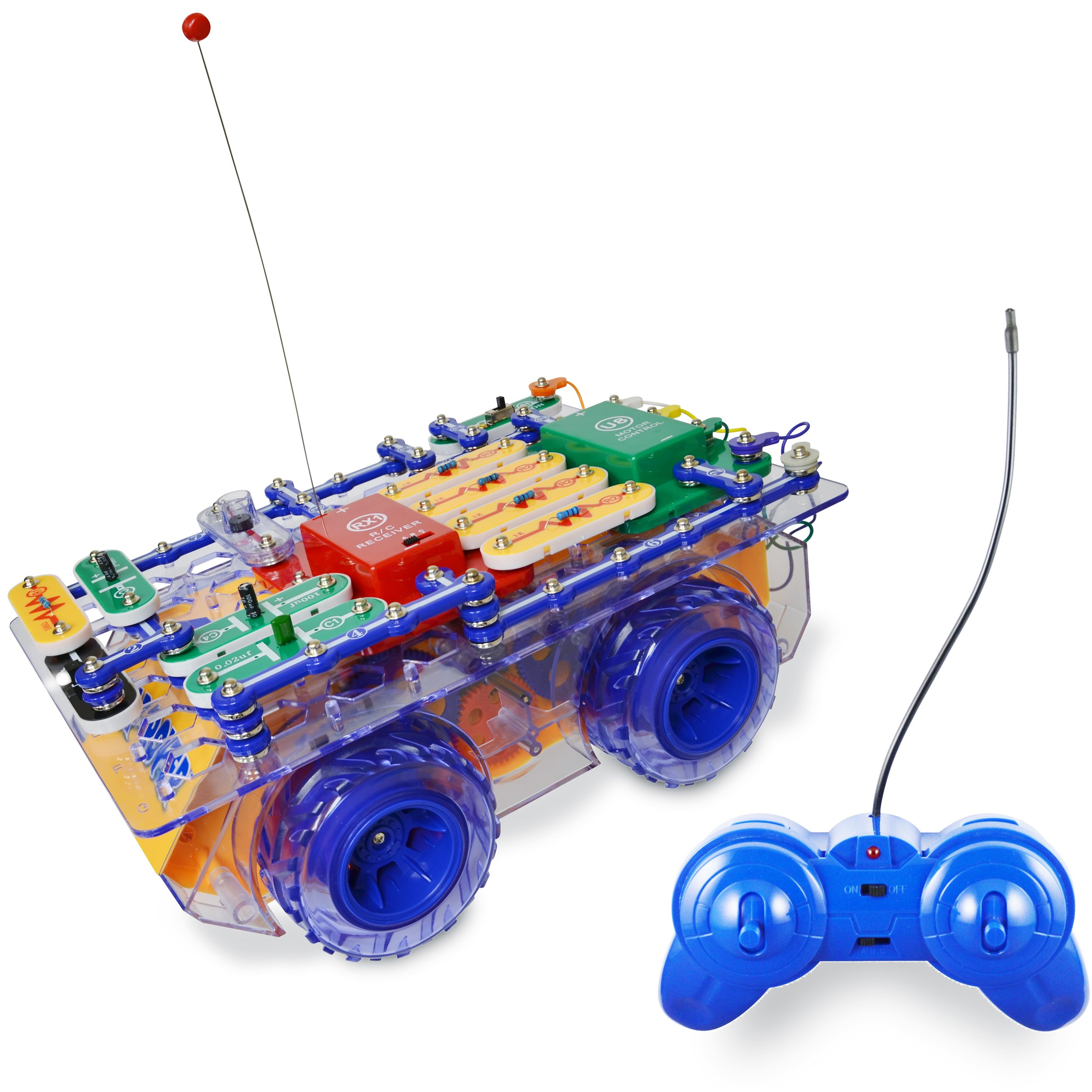 Snap Circuits R/C Snap Rover Electronics Exploration Kit | 23 Fun STEM Projects | 4-Color Project Manual | 30+  Snap Modules | Unlimited Fun by Snap Circuits