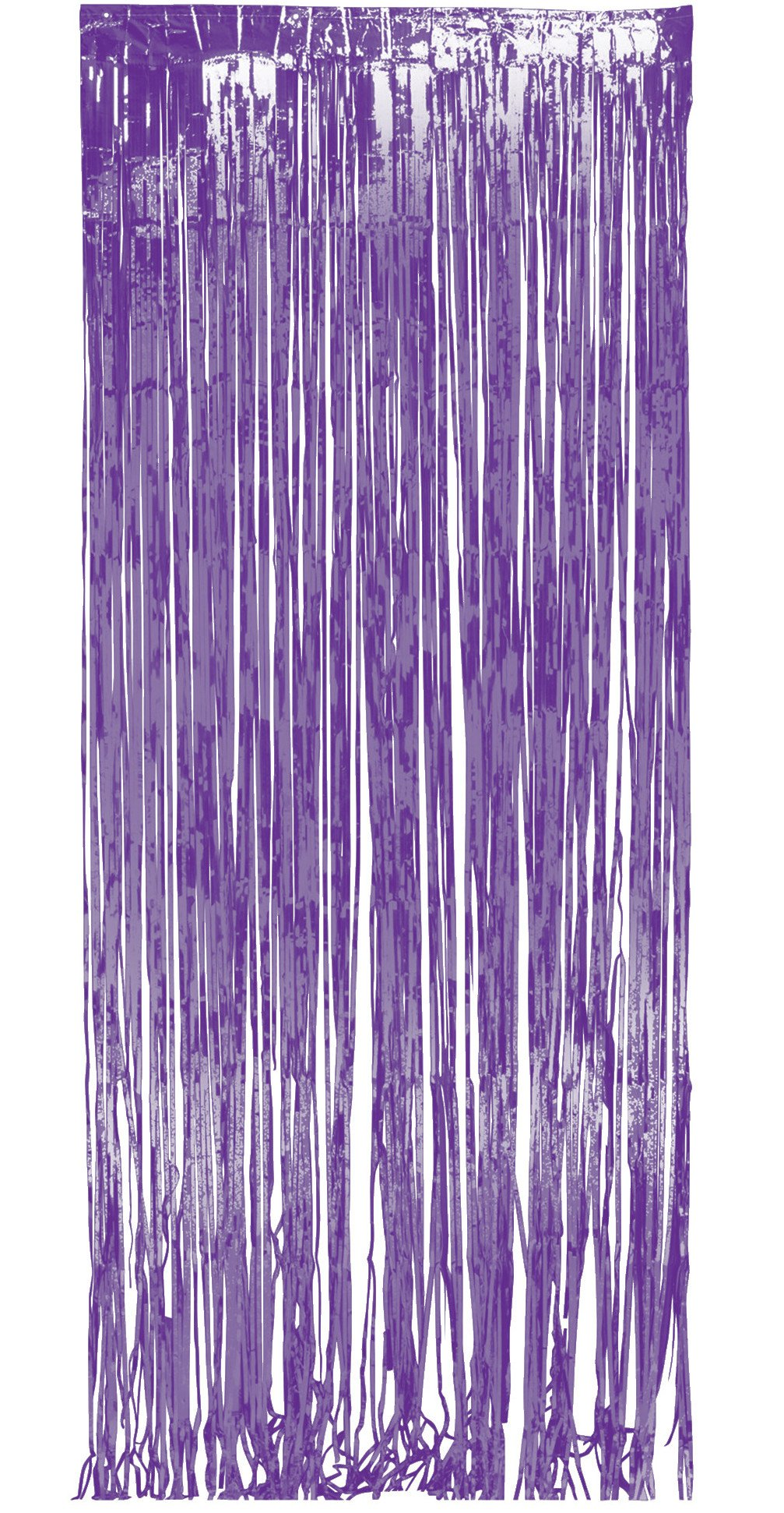 Creative Converting 140212 Foil Fringe Door Curtain, 3'' x 8', Purple