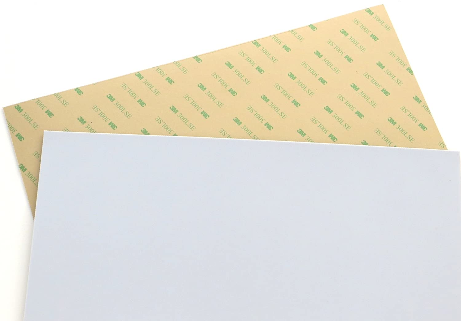 "Teflon (PTFE) sheet Size 12"" x 12"", 0.03"" (1/32"") thick, with 3M 300LSE industrial-strength self-adhesive backing [TEFLON12x12-3M]"