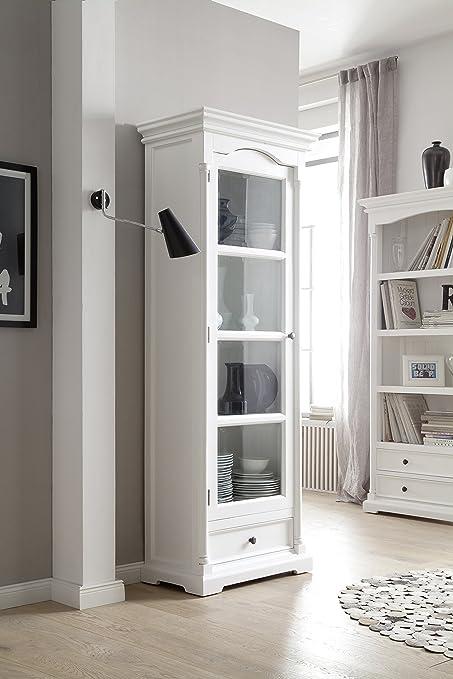 Amazon Novasolo Provence Pure White Mahogany Wood Cabinet With