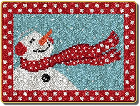 Latch Hook Rug Kits Santa DIY Needlework Carpets Unfinished Crocheting Rug Yarn Cushion Mat Embroidery Carpet Christmas decoration