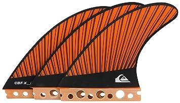 Quiksilver CBF-X - Juego de Aletas para Tabla de Surf, Color Naranja,