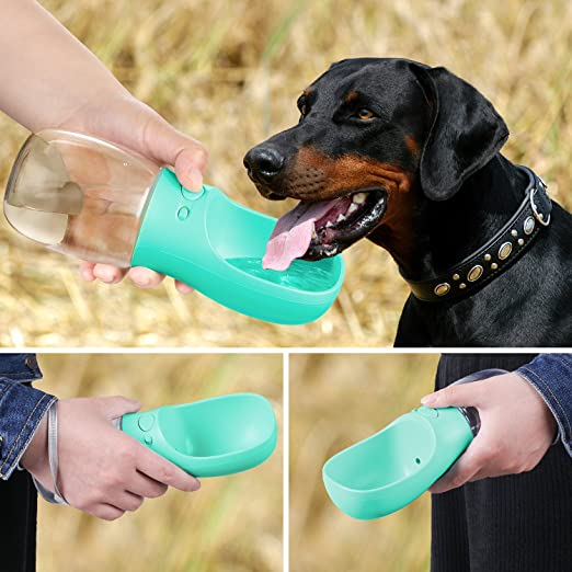 62b28a2873dc Dog Water Bottle, Pedy Pet Water Bottle for Walking or Outdoor Travel with  Bowl Dispenser, Antibacterial Portable Leak Proof Doggie Water Drink Cup,  ...