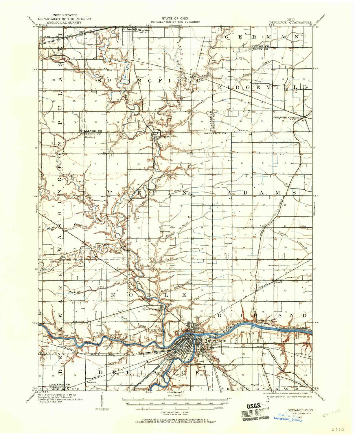 Amazon.com : YellowMaps Defiance OH topo map, 1:62500 Scale ... on defiance missouri, mount gilead map, jonesville virginia map, defiance michigan map, defiance online map, defiance county map, fort defiance arizona map, defiance san francisco map, defiance indiana map, defiance oh,