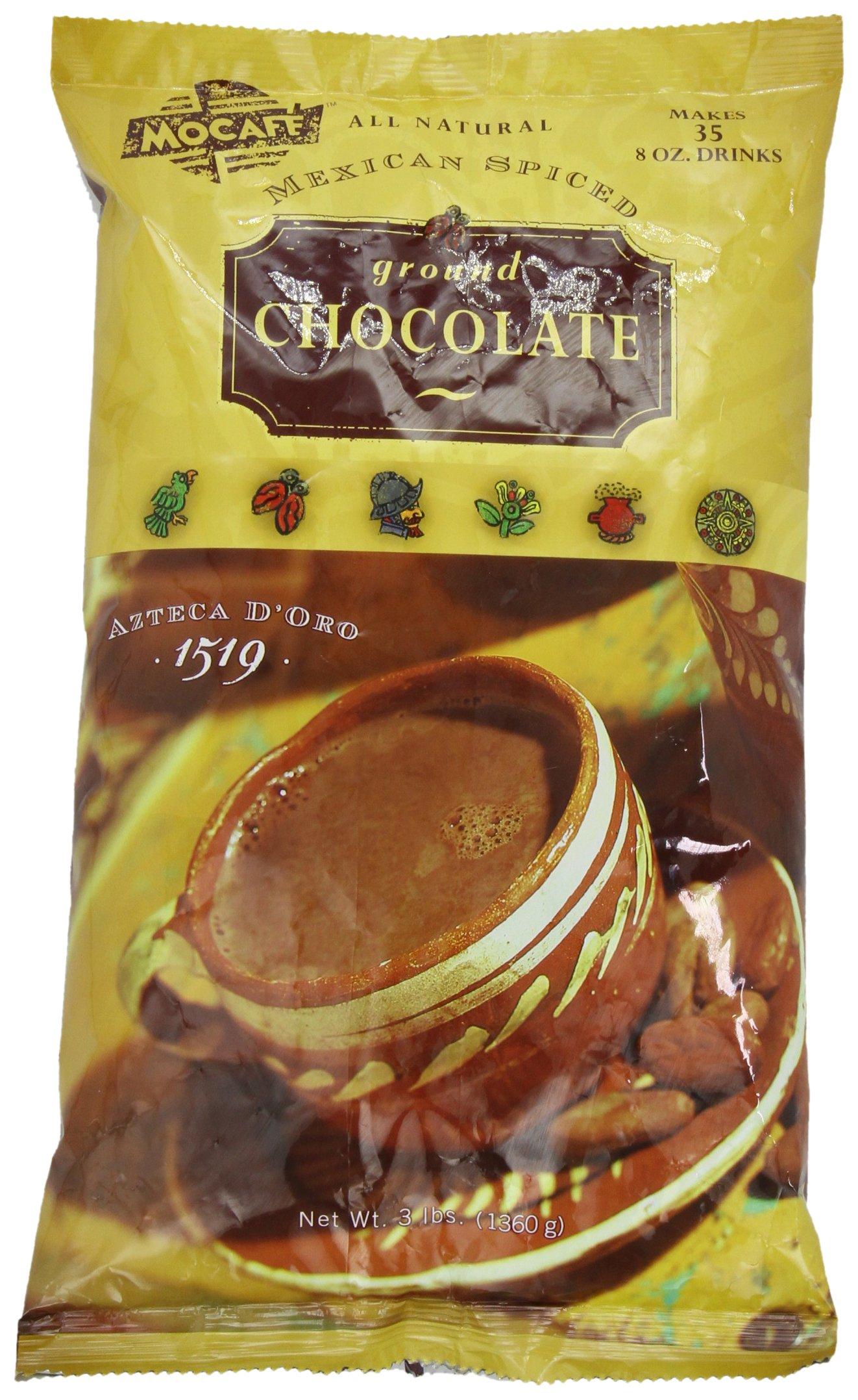 Mocafe Azteca Doro 1519 Mexican Spiced Ground Chocolate, 3-Pound Bag