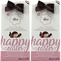 Olva Gourmet Chocolate 2 Pack | Italian Chocolate | Dark Chocolate Pralines and Milk Chocolate Pralines with Soft Fruit Filling