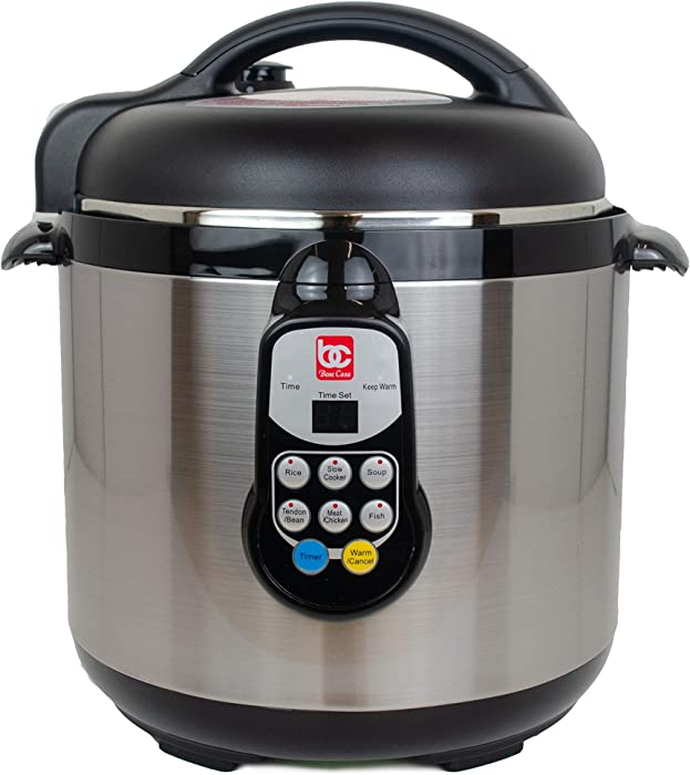 Bene Casa 6L Stainkless Steel Non-Stick Electric Pressure Cooker