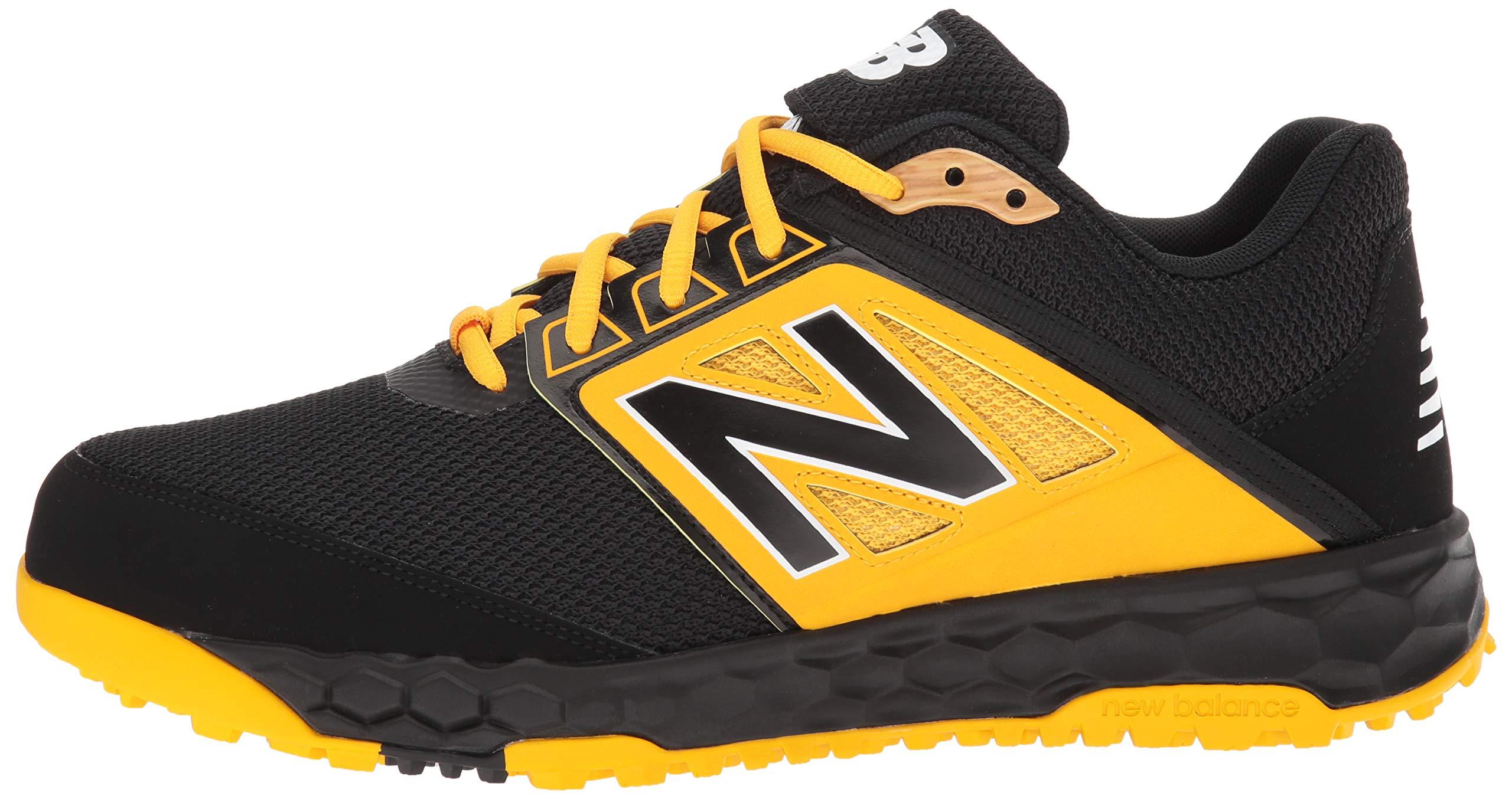 New Balance Men's 3000v4 Turf Baseball Shoe, Black/Yellow, 5 D US by New Balance (Image #5)