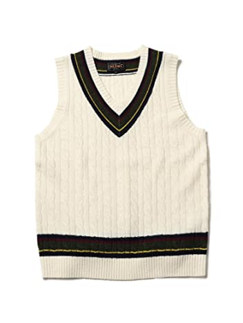 Beams Plus Wool Cricket Vest 11-05-0123-103: White