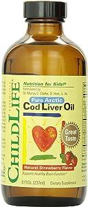 Child Life Cod Liver Oil, Glass Bottle, 8-Ounce