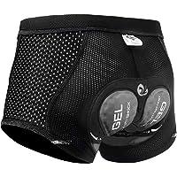 X-TIGER Hombres Ropa Interior de Bicicleta con 5D Gel Acolchado MTB Boxer Ciclismo Pantalones Cortos…