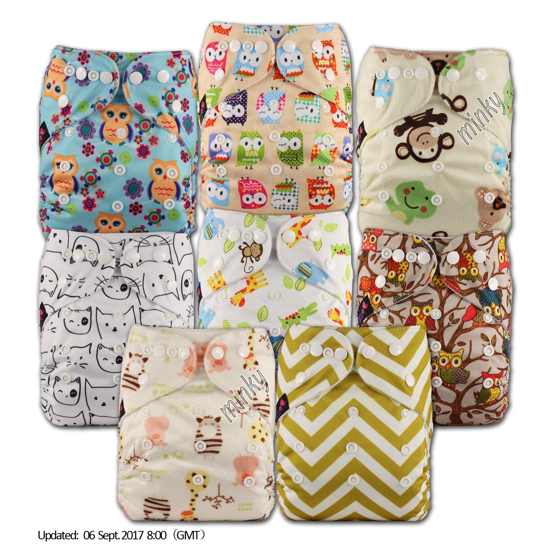 LittleBloom Bebé Pañales Lavables Pañal Reutilizable Insertos, Cierre: POPPER, Set de 8: Amazon.es: Bebé