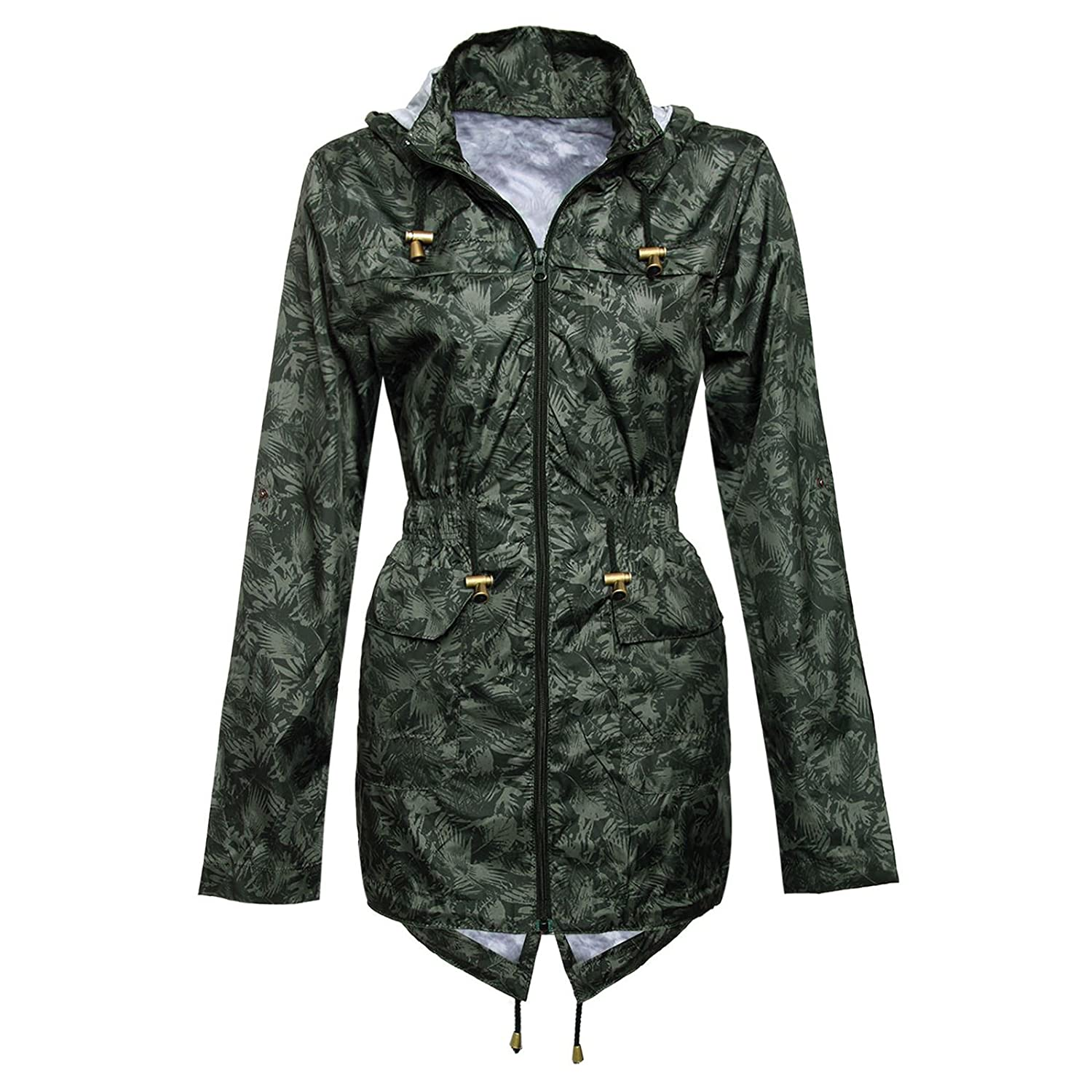 Myshoestore Ladies Women Girls Rain Mac Raincoat Shower Proof Cagoule Parka Hooded Jacket