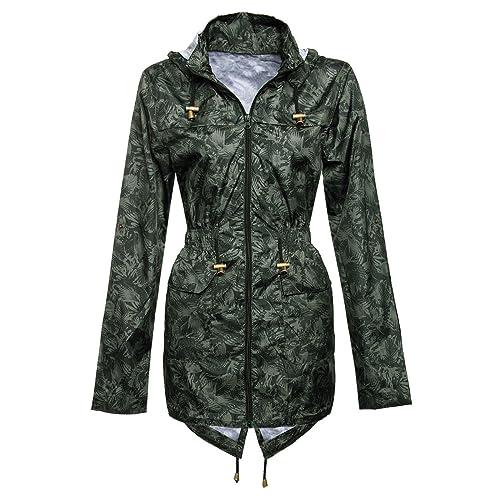 MYSHOESTORE Chubasquero para mujer, impermeable, chaqueta para festival, ligera, con capucha, tallas...