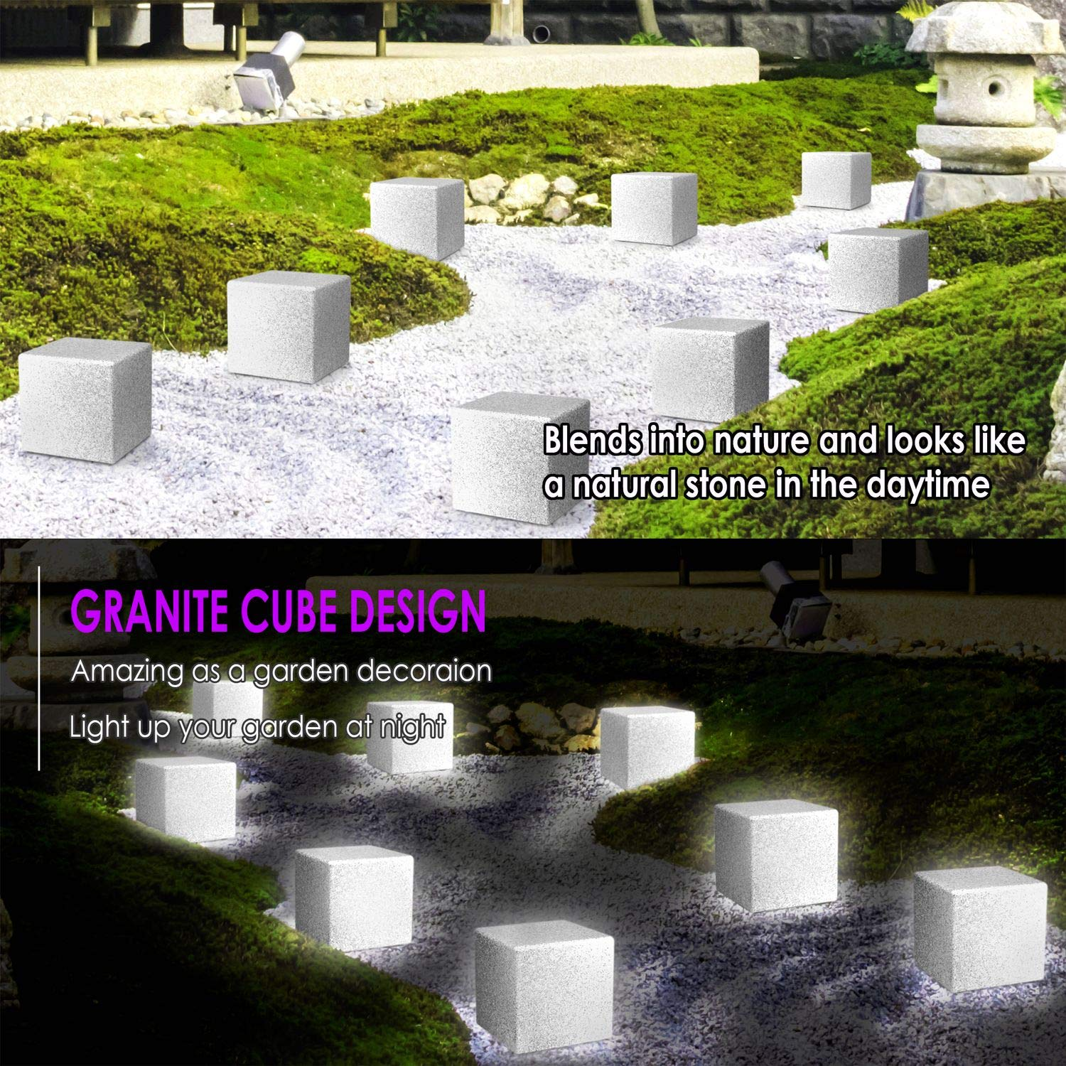 INNOKA LED Cube Light: 8-inch IP65 Waterproof Outdoor Party Bedroom 16 RGB Color Changing 4 Lighting Effects for Pool Cordless /& Rechargeable Decorative Dimmable Mood Lamp with Remote Control