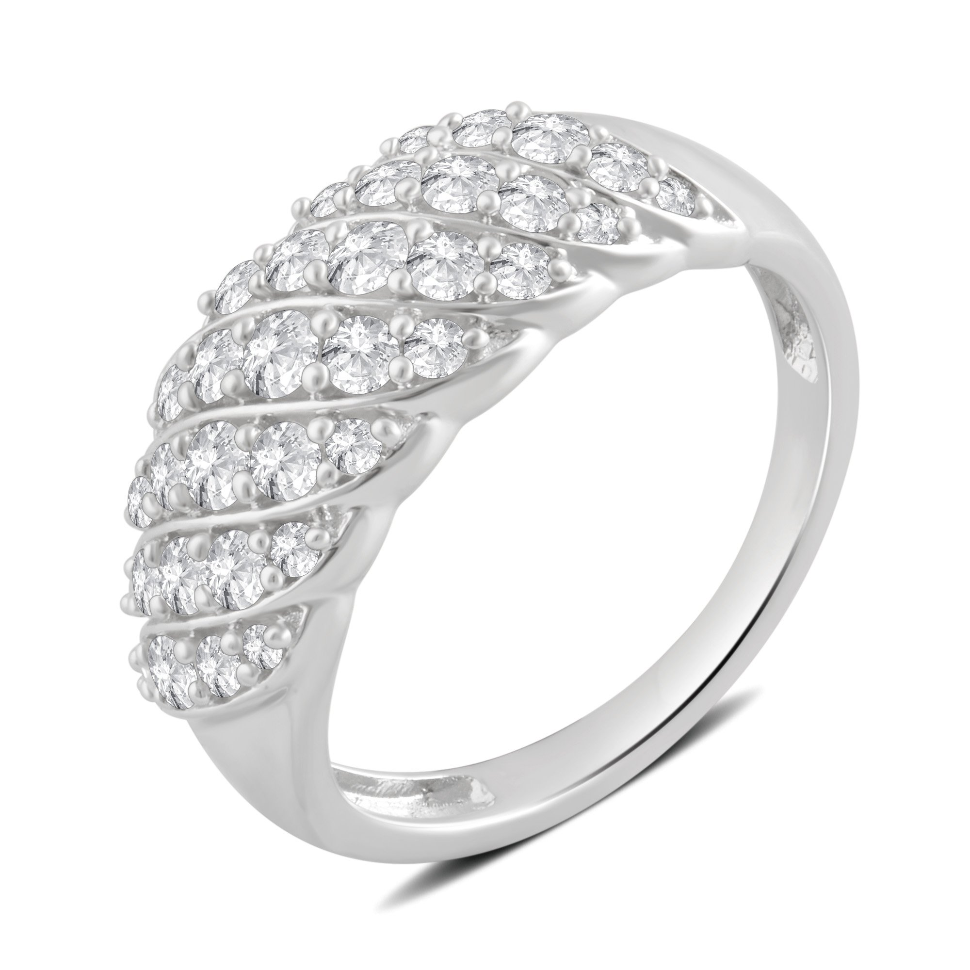 1.00 Cttw Diamond Anniversary Ring in Sterling Silver