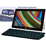 Navitech clavier fin noir sans fil Bluetooth Windows pour Microsft Surface 2 & Surface Pro 2