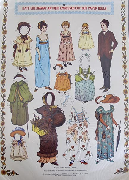 cut doll Vintage sheets paper out