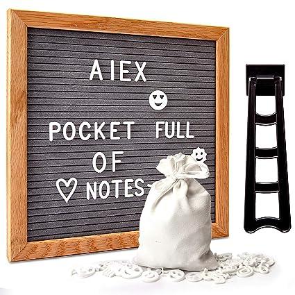 AIEX Pizarra de fieltro gris para cartas intercambiable ...