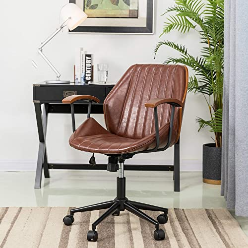 Glitzhome Adjustable Mid-Back Home Office Chair