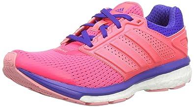 huge discount a63fe 345aa adidas Supernova Glide Boost 7, Damen Laufschuhe, Pink (Boo FlaredFla)