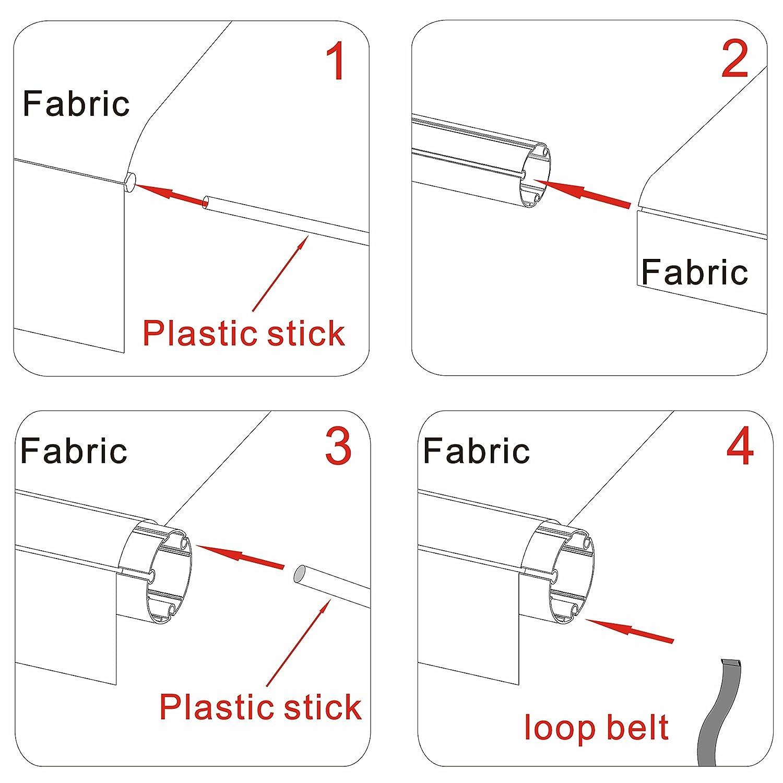 ALEKO RVFAB21X8GREY26 RV Awning Fabric Replacement 21 x 8 Feet Gray