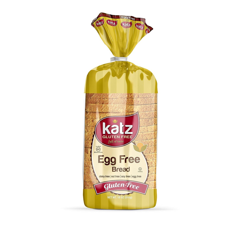 Katz Gluten Free Egg Free Bread 18 Ounce 1 Pack Amazoncom
