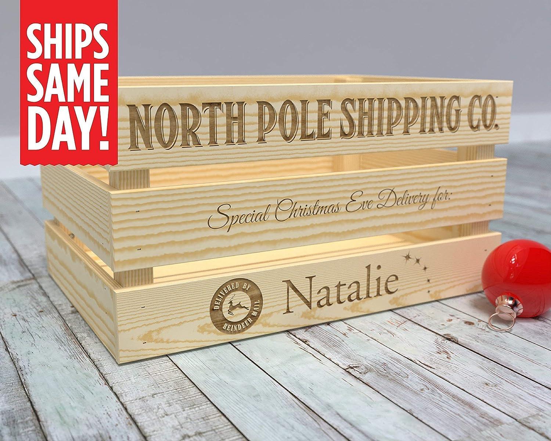 Christmas Crate Box.Amazon Com Christmas Eve Box Wooden Christmas Eve Box