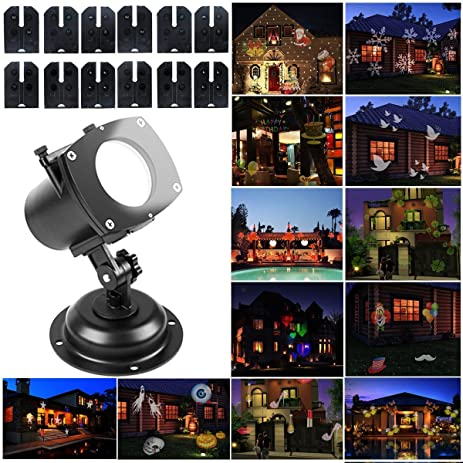 Outdoor Projector Lights Holiday Light Projector Outdoor Projector Light 12  Patterns Holiday Landscape Lighting Lamp Multicolor