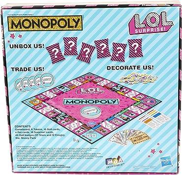 Monopoly Game: L.O.L. ¡Sorpresa! Juego de mesa para niños de 8 años en adelante (Inglés): Amazon.es: Juguetes y juegos
