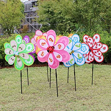 Lottoy Colorful Large Plastic Pinwheel, Lawn Pinwheels, Party Pinwheels  Windmill, DIY Pinwheels Set