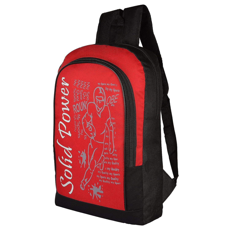 de264a2bdd31 SOLID POWER printed  Laptop Bag   Backpack  (Red) by LAPAYA-RAAMA   Amazon.in  Bags
