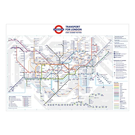 stikaco standard london underground tube station map poster june 2016 a3
