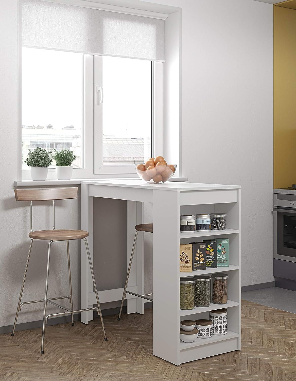 Modern Loft Mesa Ramsay, 115 x 50 x 102,7 cm, Blanco