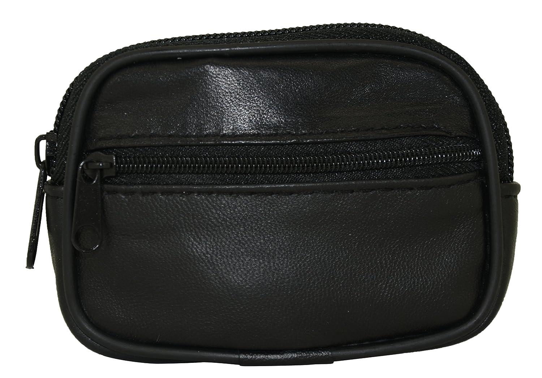 TASSINI TRENDS Mens Soft Nappa Zip Wallet Coin Purse Bag
