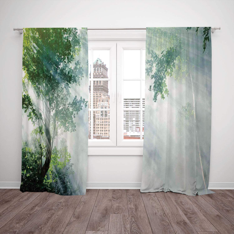Juego de 2 cortinas para ventana, diseño de mármol con piedra ...