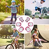 DaCool Kids Helmet Pad Set Elbow Knee Wrist Pads