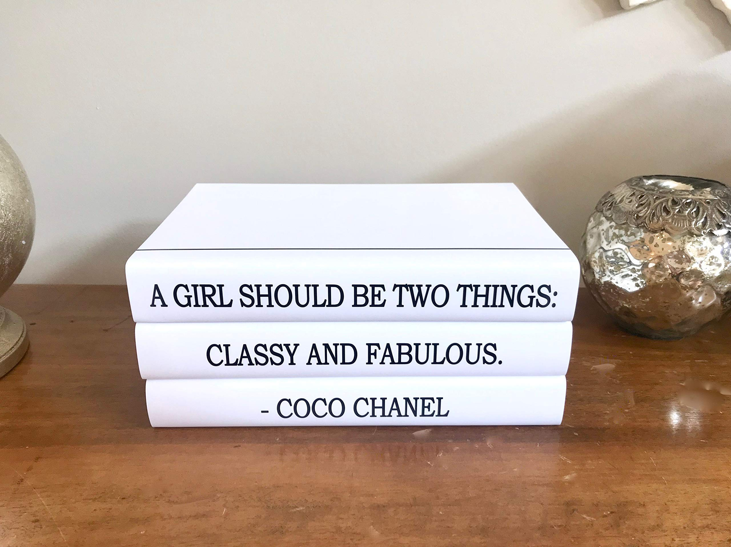 Fashion Designer Quote Classy And Fabulous Decorative Book Set