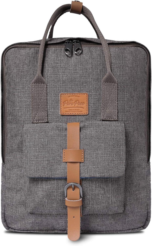 ParaPace Vintage Laptop Backpack Hand bag Hidden USB Port