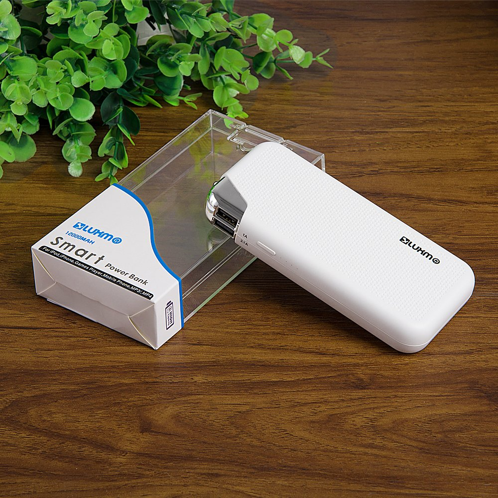 Portable Power Bank 12000mah External Battery Charger Newtech Original Jabodetabek Only Gift Pack Charging 2 Devices Simultaneously With Flashlight Led Suitable For Nokia 6
