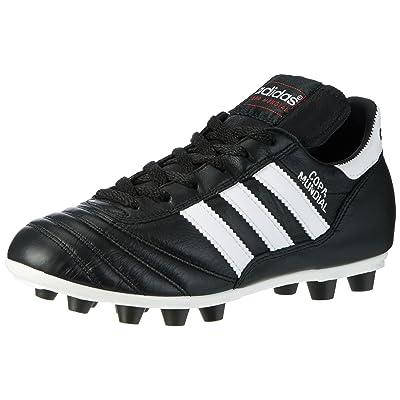 Adidas Coupe du Monde sol dur adulte Chaussures de Football–Chaussures de football (sol dur, adulte, masculin, Semelle avec queues, noir, blanc, motifs)