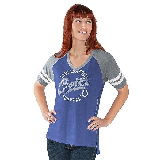 14ec55ed GIII For Her NFL Minnesota Vikings Women's Fastball V-Neck Short Sleeve Tee