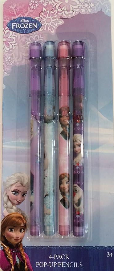 Frozen 4 Pop up Lápices Papelería Niños Anna y Elsa Oficial Disney