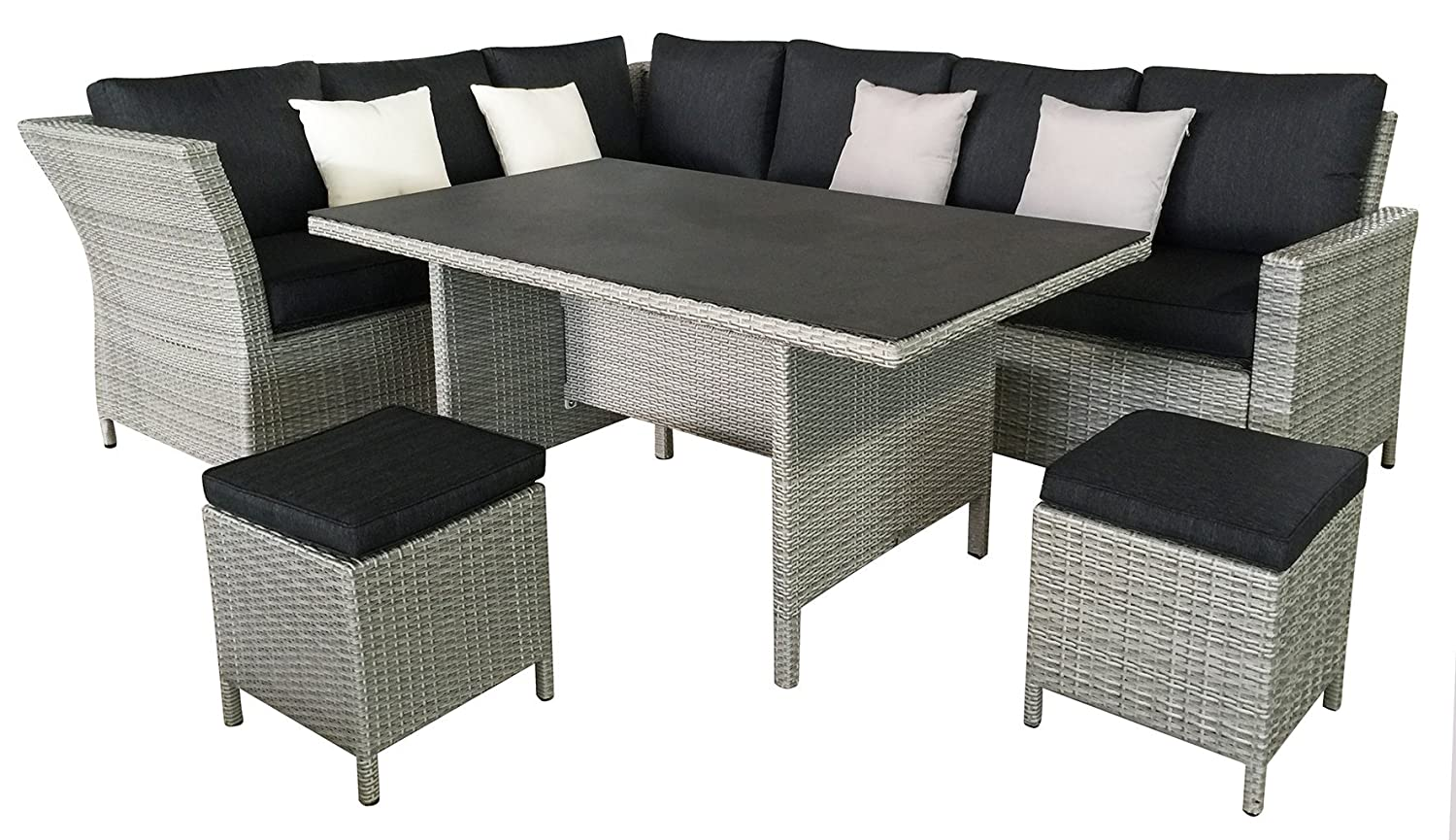 rattan lounge gnstig good lounge sessel polyrattan verstellbar holz rattan tisch und stuhl with. Black Bedroom Furniture Sets. Home Design Ideas