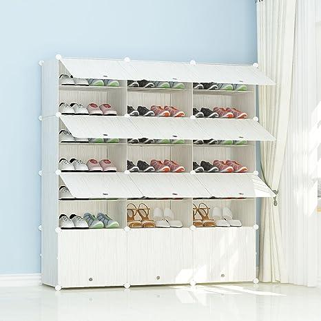 PREMAG Estantería de Zapatos Modular de plástico, diseño de Madera 3 * 7
