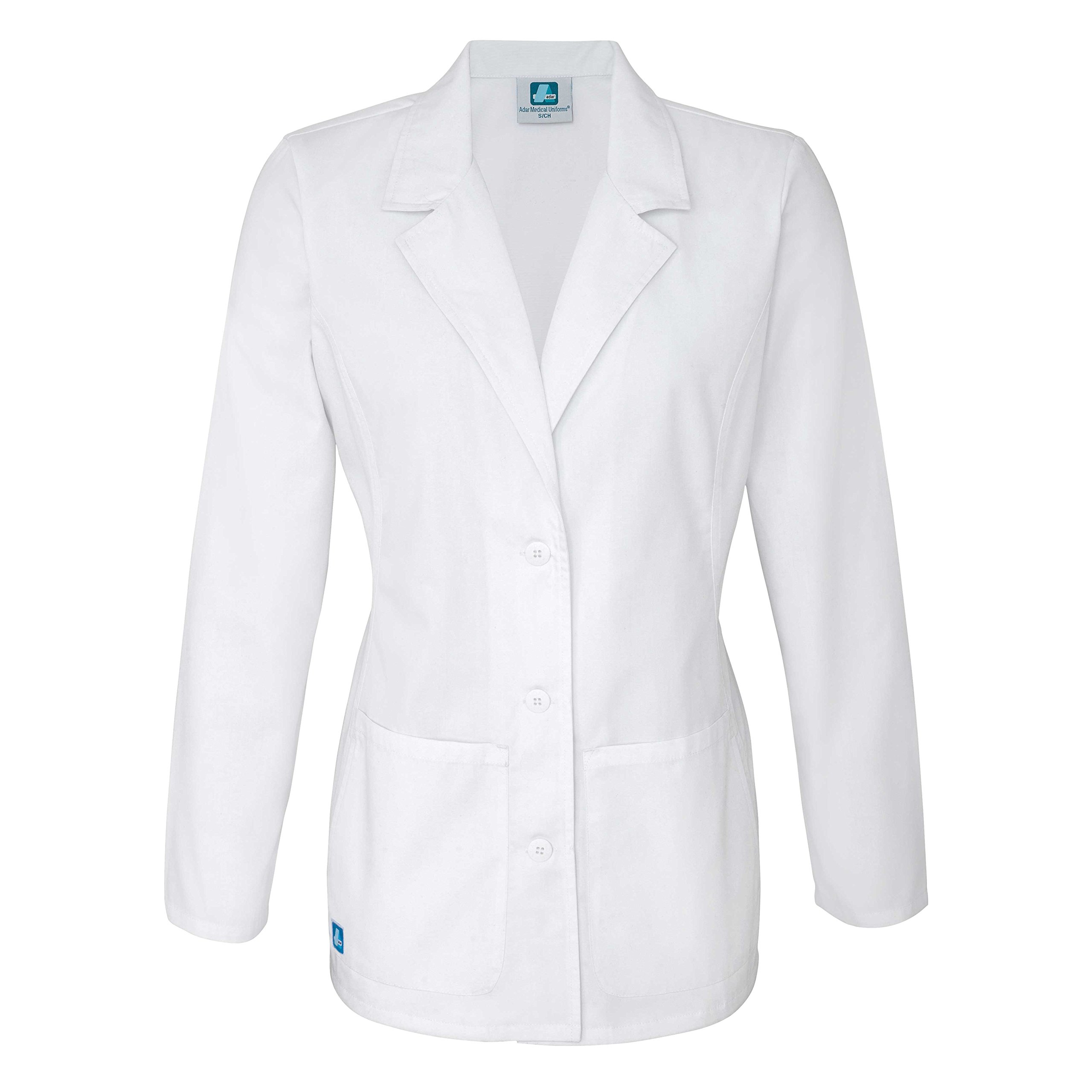 Adar Universal Women's 28'' Tailored Consultation Coat - 2814 - White - XXS