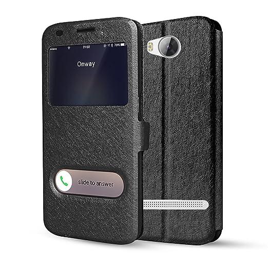 21 opinioni per Huawei Y3 II Cover- bdeals Ultra Sottile Flip Cover Protettiva Custodia e View